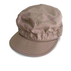 Tan Military Cap Hat Army/Navy Surplus USA Made